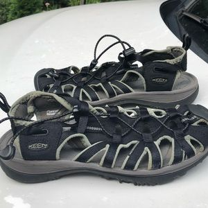 Keen black waterproof sandals 8